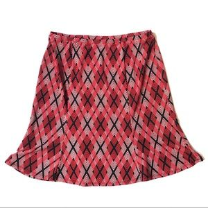 💎Express Small Plaid Mini Skirt Red and Black